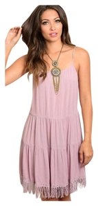 Mauve Maxi Dress by Other Bohemian Free People Anthropology Hippie Vintage