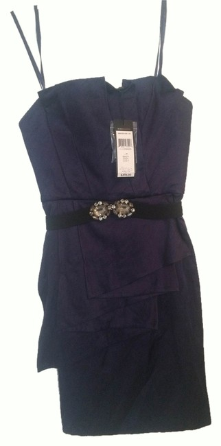 BCBGMAXAZRIA Shift Belted Sleeveless Dress