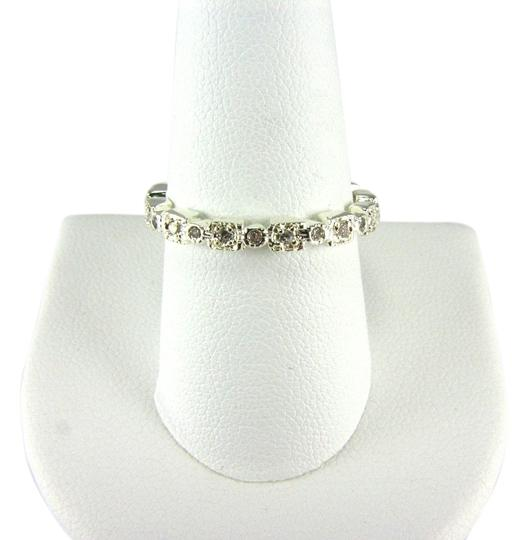 CITY BY CITY CITY BY CITY SILVER PLATED TEXTURED BAND WITH CZ'S SIZE 9
