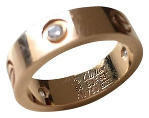 Cartier Cartier Rose Gold Love Ring 3 Diamonds