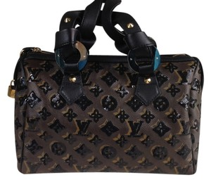 Louis Vuitton Limited Edition Sequin Satchel in Black and Brown