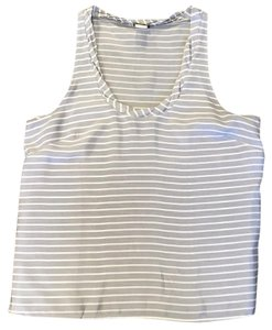 J.Crew Top Grey and white