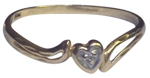 jcm JCM Diamond 10K gold heart ring