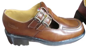 Dr. Martens tan/med. brown Flats
