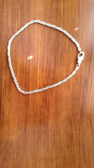 Other Sterling Silver Braided Box Chain with engraved design on lobster claw closure. Image 1