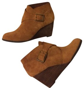 Lucky Brand Leather Suede Light brown Boots