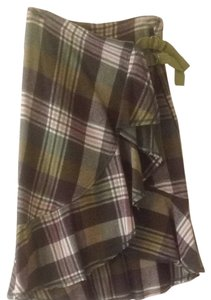 Free People Skirt Pink And Green Plaid