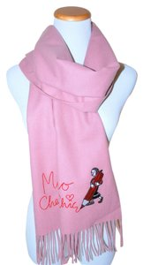 MOSCHINO Brand New Moschino ITALY WARM WINTER CUTE PINK Wool Scarf NWT
