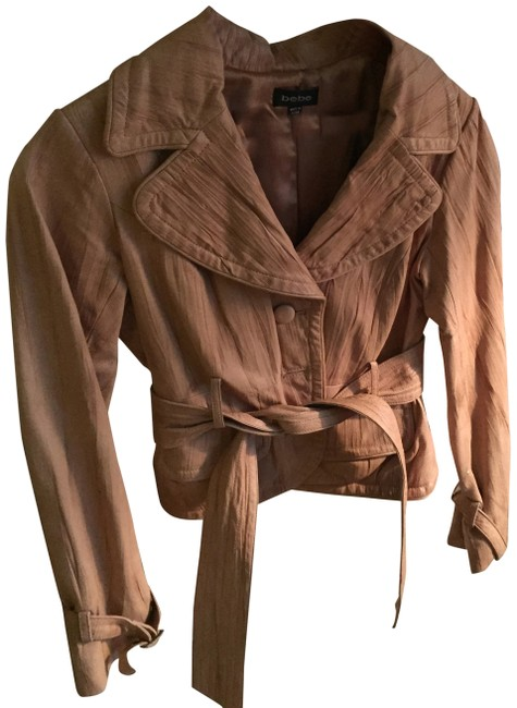 bebe Camel Leather Jacket