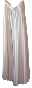 Ralph Lauren Silk White Cream Maxi Skirt