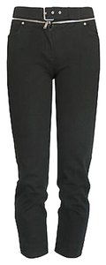 Céline Zipper Cropped Capri black Leggings