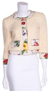 Dolce&Gabbana Pale Yellow & Multicolor Jacket