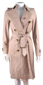 Burberry Trench Coat Belted Cotton Tan Jacket