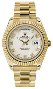 Rolex Rolex New Style Pre Owned Day-Date II President Yellow Gold Ivory Dial 41mm