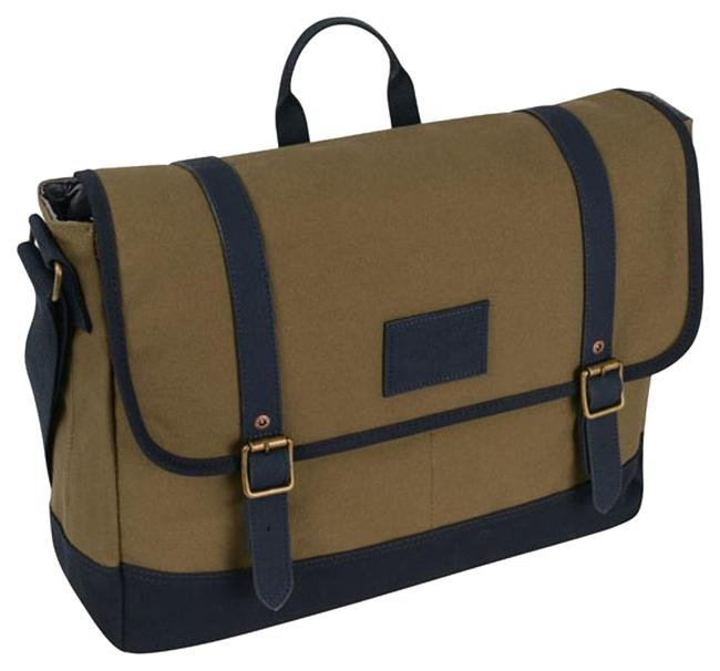Item - Del Norte 17 Inch East Dark Olive/Navy Canvas Messenger Bag