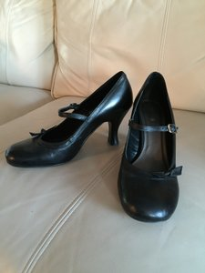 Sexy Mary Jane Black leather Pumps