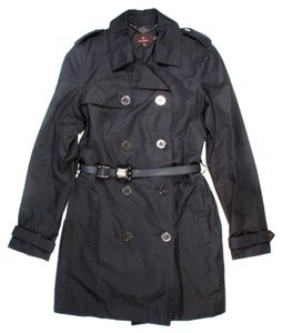 Mulberry Trench Coat Belted 2013 Double Breasted Black Jacket