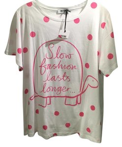 Moschino T Shirt White, Pink