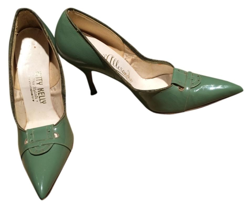 Us Patent High 5 1950 Pumps Leather Green RegularmB Heels Size 7 thQCsrd