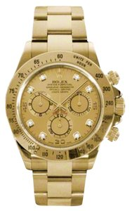 Rolex Rolex New Style Pre Owned Daytona Yellow Gold Champagne Diamond Dial 40mm