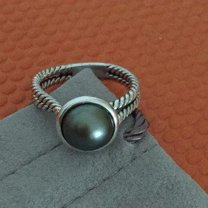 David Yurman Tahitian Pearl Silver Ring