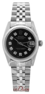 Rolex Rolex Mid-Size Datejust Black Diamond Dial on Jubilee Band