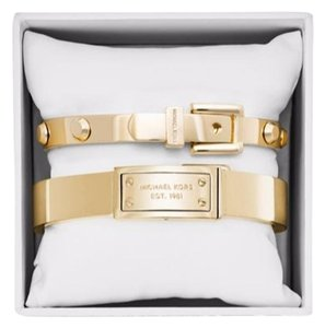 Michael Kors Michael Kors Gold-Tone Logo Bangle Bracelet Boxed Set