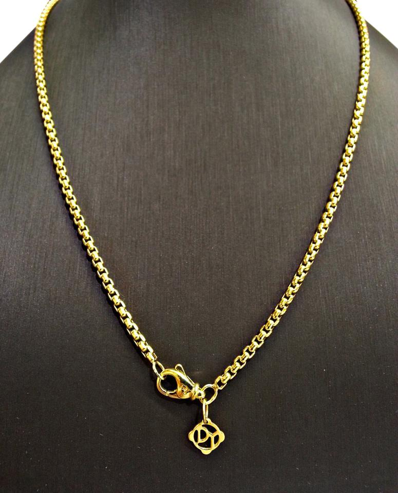 65bee927ab6 David Yurman Yellow Box Chain 18 Karat Gold 2.7mm 18 Inches Necklace ...