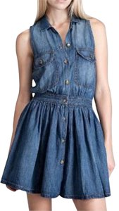 Current/Elliott short dress Medium Denim Vintage Day 90s on Tradesy