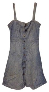 Gap short dress Denim Blue Denim Button-down Chambray Summer on Tradesy