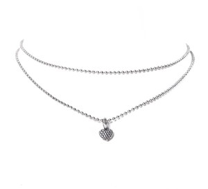 Lagos Lagos Silver Ball-Chain & Studded-Heart Necklace
