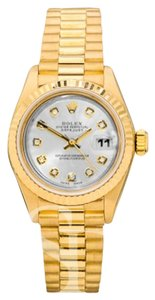 Rolex Rolex 26 Yellow Gold President Silver Diamond