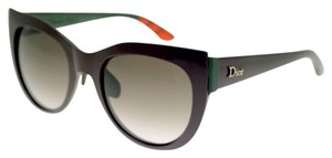Dior NEW Dior Decale 1/S Round Cat Eye Sunglasses Burgundy Green Rubber