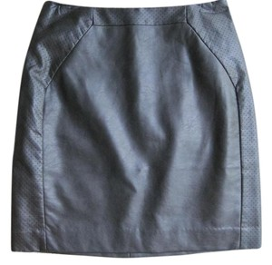 H&M Faux Leather Mini Mini Skirt Black