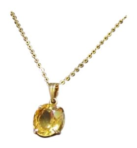 H. Stern Designer H. Stern 18k yellow Gold Genuine Citrine Pendant Necklace - 18k H Stern Oval Sunrise Citrine Necklace Signed In Box