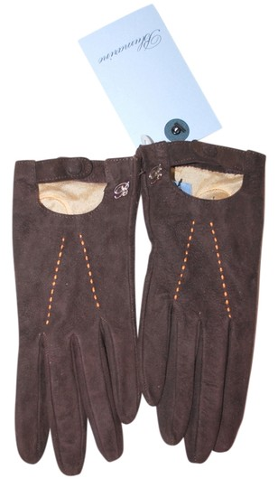 Preload https://item5.tradesy.com/images/blumarine-brown-green-new-italy-seude-leather-cashmere-blend-gloves-1762734-0-0.jpg?width=440&height=440