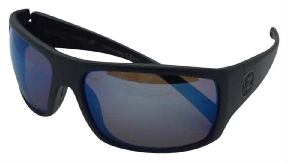 f103c22e84 Von Zipper Polarized VONZIPPER Sunglasses VZ SUPLEX Matte Black Frame w   VPG Blue Mirror Lenses ...