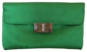 David's Bridal Spring Green Clutch