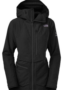The North Face Lavish Fully Taped Seams Fuseform Constructed Underarm Vents Zippered Black Jacket