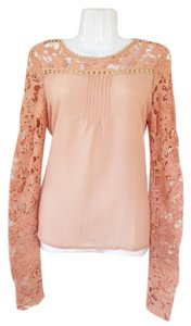 Dygarni Longsleeve Crochet Pom Poms Fancy Top blush, peach