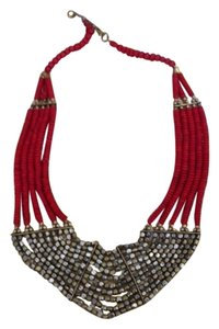 Boutique Red Beaded Necklace