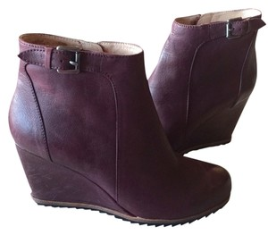 Biala Nordstrom Leather Maroon Wedge Ankle Ankle New Burgundy Boots