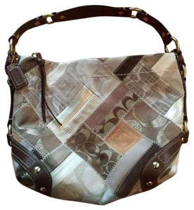 Coach Carly Patchwork Neutral Hobo Bag