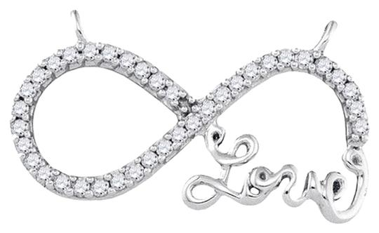 """Other 18"""" Ladies Luxury Designer 10k White Gold 0.20 Cttw Diamond Fashion Infinity Knot Love Pendant & Necklace By BrianGdesigns"""