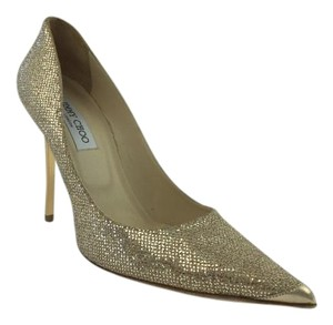 Jimmy Choo Abel Gold Pumps