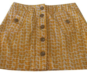 J.Crew Mini Skirt Yellow and white