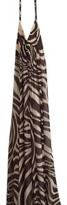 Brown & Cream Maxi Dress by BCBGMAXAZRIA
