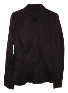 The Limited Button Front Blouse Button Down Shirt Purple