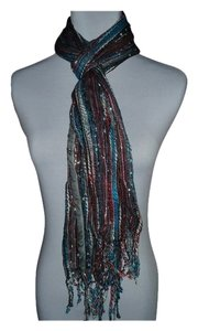 Multi Color Yarn Lurex Scarf