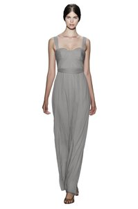 Amsale Taupe Silk Bridesmaid/Mob Dress Size 6 (S)